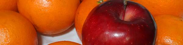 red apple fruit and orange sunkist fruit ** Note: Slight blurriness, best at smaller sizes